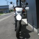 中古車 ホンダ XR230モタード ホワイト/レッド フロントサイド