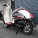 新車 ヤマハ ビーノSweet Style ブラウン/レッド リヤサイド