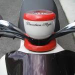 中古車 ヤマハ ビーノバケーションスタイル ブラウン ロゴ