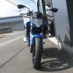 カワサキ Z250SL ブルー フロントサイド2