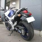 スズキ グラディウス400ABS ブルー/ホワイト リヤサイド