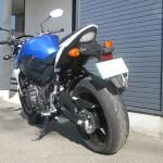 スズキ GSR750ABS ブルー/ホワイト リヤサイド