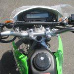 カワサキ KLX125 グリーン メーター周り
