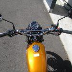 カワサキ 250TR ゴールド ハンドル周り
