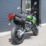 カワサキ KSR110 ファイナル ブラック/グリーン 後ろ側