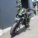 カワサキ KSR110 ファイナル ブラック/グリーン 前側