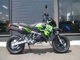 カワサキ KSR110 ファイナル ブラック/グリーン 右側小