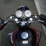 カワサキ W400 ファイナルエディション レッド/ブラック ハンドル周り