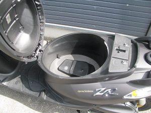 中古バイク ヤマハ JOGZR マットグレイ シートボックス