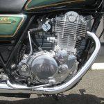 ヤマハ SR400 30thアニバーサリーリミテッドエディション グリーン エンジン