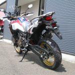 新車バイク ホンダ CRF1000L アフリカツイン トリコロール 後ろ側