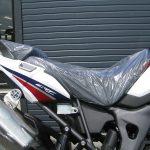新車バイク ホンダ CRF1000L アフリカツイン トリコロール シート下げた状態