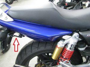 ホンダ CB400SF(スーパーフォア) ブルー 似掛けフック1