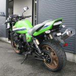 カワサキ ZRX1200 DAEG ファイナルエディション ライムグリーン 後ろ側