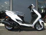 新車バイク ヤマハ シグナスX-SR ホワイト 右側小
