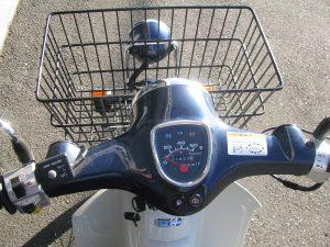 ホンダ プレスカブ(50cc) ブルー ハンドル周り