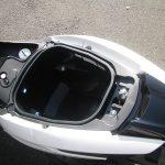 ヤマハ トリシティ155ABS ホワイト シートボックス
