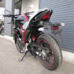 スズキ ジクサー(GIXXER)155cc レッド/ブラック 後ろ側