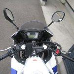 中古車 ホンダ CBR400R ABS トリコロールカラー(ホワイト/ブルー/レッド) メーターパネル