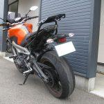 中古車 ヤマハ MT-09ABS オレンジ 後ろ側