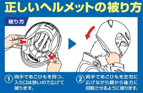 1正しいヘルメットの被り方