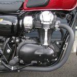 中古車 カワサキ W800 スペシャルエディション レッド/ブラック エンジン