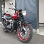 中古車 カワサキ W800 スペシャルエディション レッド/ブラック 前側