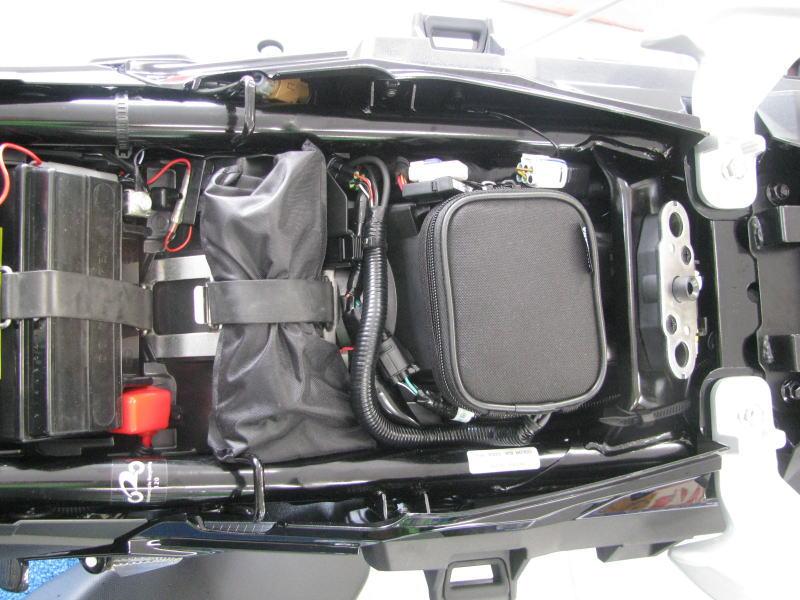 Vストローム250 ETC車載器取付位置