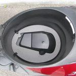 中古車 ヤマハ JOG レッド ヘルメットボックス