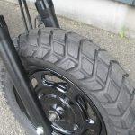 中古車 ホンダ エイプ50(Ape50) ブルー 新品タイヤ