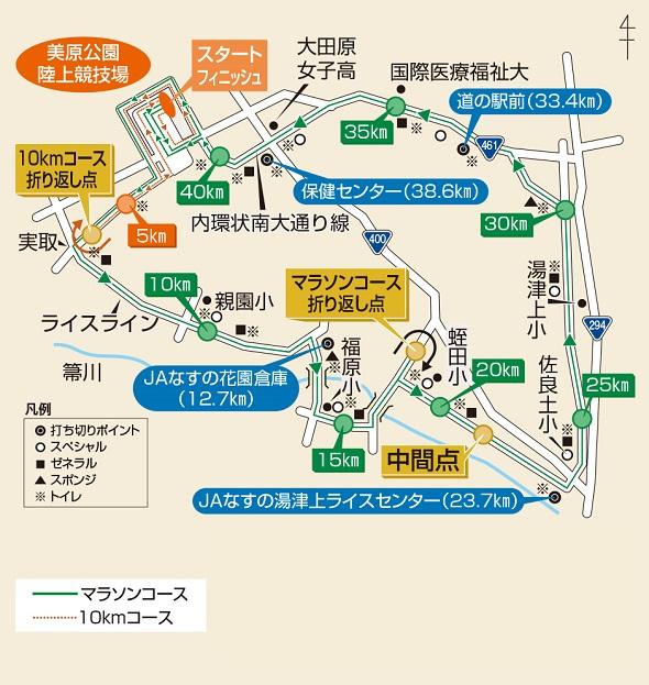 大田原市交通規制 大田原マラソンコース 2017年11月23日