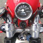 中古車情報 ホンダ モンキー ホワイト/レッド 2007年モデル メーター