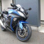 カワサキ NINJA250ABS スペシャルエディション ブルー/ブラック 前側