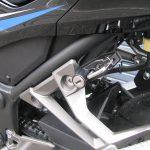 カワサキ NINJA250ABS スペシャルエディション ブルー/ブラック ヘルメットロック(ヘルメットホルダー)