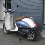 中古車情報 50ccスクーター ヤマハ ビーノ ブルー 左後ろ側