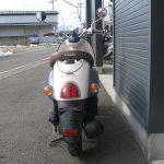 中古車情報 50ccスクーター ヤマハ ビーノ ブルー うしろ側