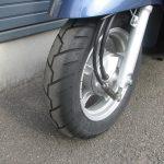 中古車情報 50ccスクーター ヤマハ ビーノ ブルー フロントタイヤ