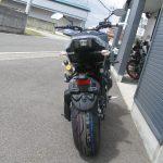 ヤマハ MT-09SP ABS シルバー/ブルー うしろ側