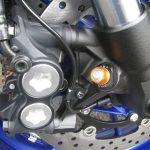 ヤマハ MT-09SP ABS シルバー/ブルー フロントフォーク圧側減衰力アジャスター