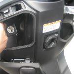 新車 ホンダ ダンク ブラック ハンドル下ポケット内の電源ソケット