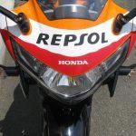 中古車情報 ホンダ CBR250R_ABS レプソルカラー(オレンジ/ブラック/レッド) フロントカウル