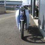 新車情報 ホンダ スーパーカブC125 ブルー 正面の写真
