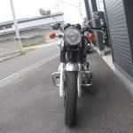中古車情報 カワサキ W800 グリーン/ホワイト まえ側