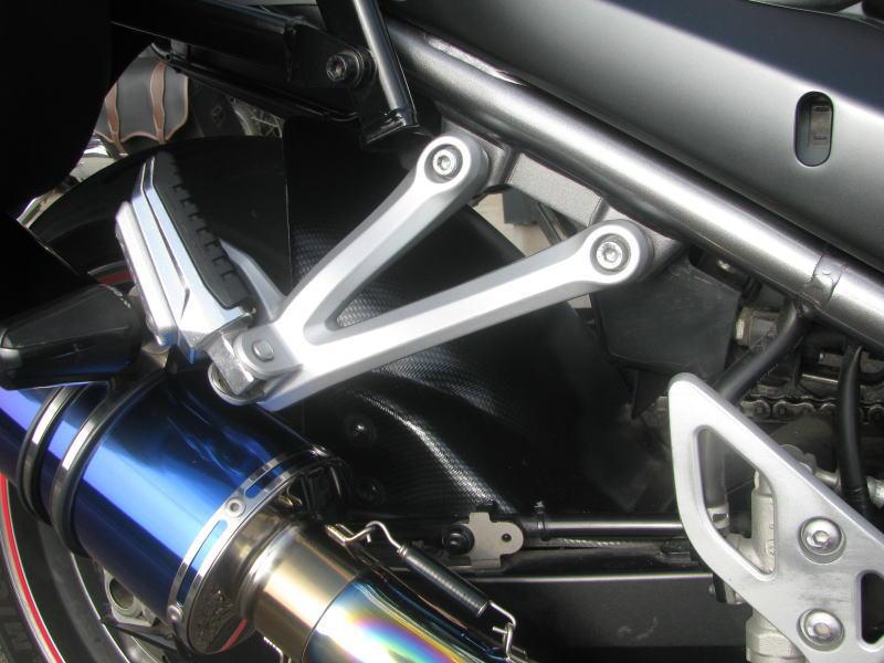 中古車情報 スズキ バンディット1250F_ABS ホワイト マフラー、3ボックス他オプション付き リアインナーフェンダー