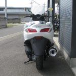 新車 スズキ バーグマン200 ホワイト 後ろ側