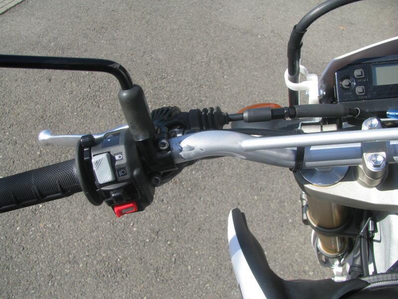 中古車情報 ヤマハ WR250R ホワイト ハンドルひだり側の傷