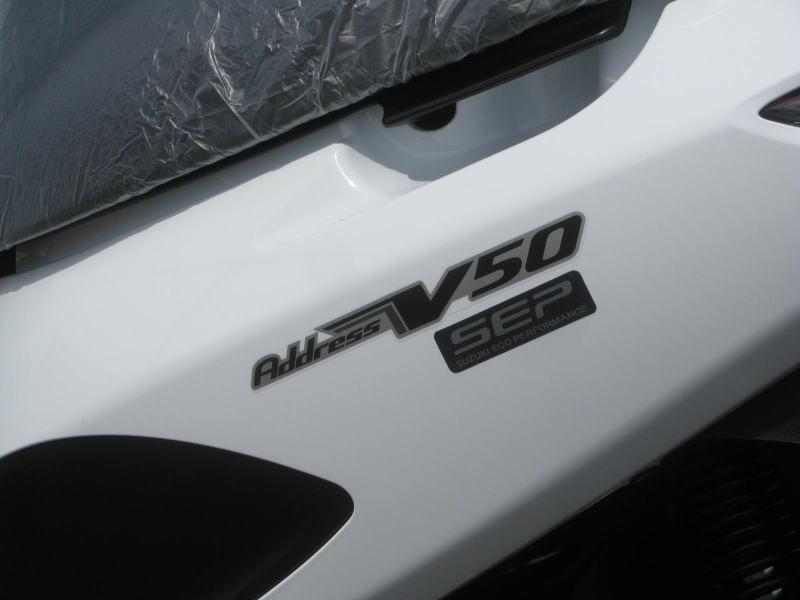 新車 スズキ アドレスV50 ホワイト エンブレム