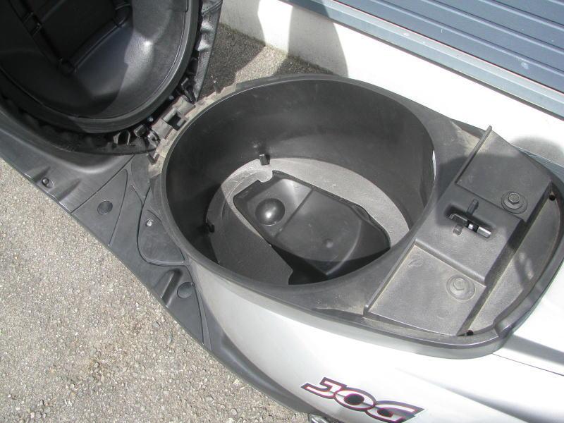 中古車 ヤマハ JOG シルバー シートボックス