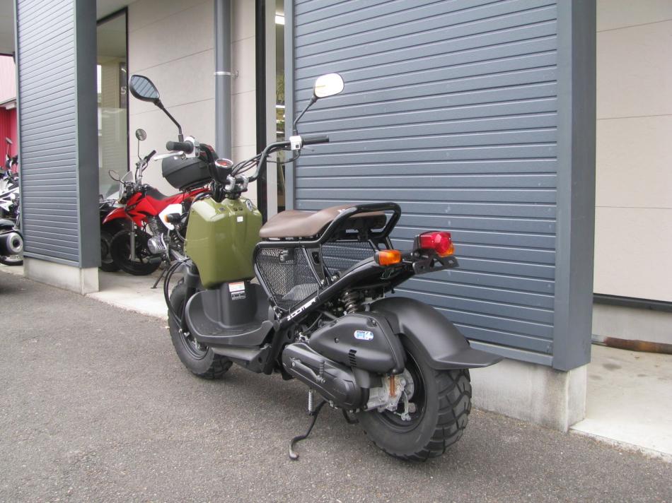 中古車バイク ホンダ ズーマー(ZOOMER) グリーン 後ろ側