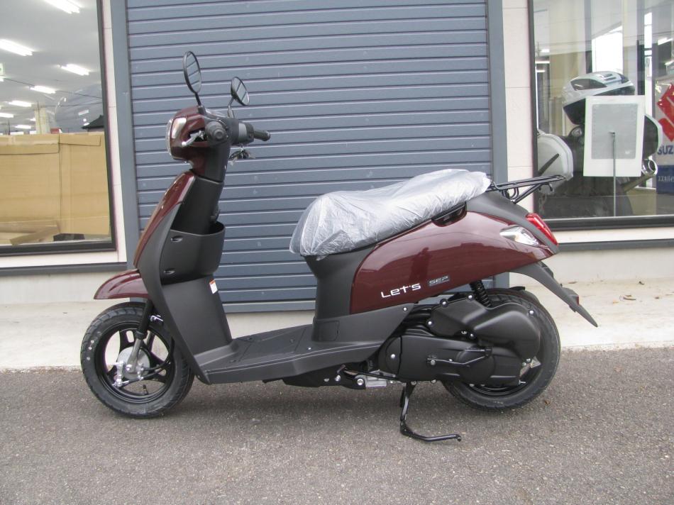 新車バイク スズキ レッツ ブラウン 2020年モデル ひだり側